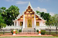 Small tranquil Buddhist temple in Thailand, Sukhothai province