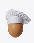 Egg with chef cap.