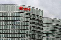 E_ON administration building, new building of the E_ON Ruhrgas AG, Essen, North Rhine_Westphalia, Germany, Europe