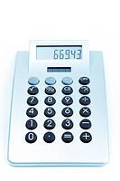 Calculator free on a white background