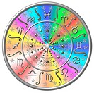 Zodiac Disc rainbow colored
