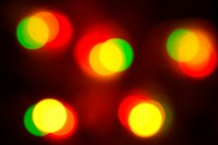 glowing Christmas lights blur abstract color background