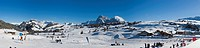 Alpe di Siusi or Mont Seuc in Ladin in winter, Compatsch, South Tyrolean Dolomites, Italy, Europe