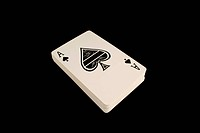 Isolated deck of cards
