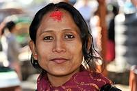 Nepalese woman, portrait, Pokhara, Nepal, Asia
