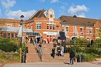 Basingstoke railway station from Alencon Link, Basingstoke, Hampshire, England, United Kingdom, Europe