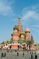 St. Basil´s Cathedral, Red Square, UNESCO World Heritage Site, Moscow, Russia