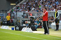 Dieter Hecking, Manager of 1 FC Nuremberg, on the sidelines, WIRSOL Rhein-Neckar-Arena, Sinsheim, Baden-Wuerttemberg, Germany, Europe