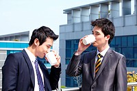 Businessmen Drinking Coffee