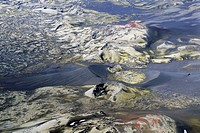 Aerial view, Laki craters, Laki or Lakagígar vulcanic fissure, Iceland, Europe