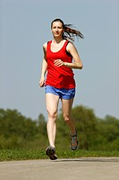 Recreational runner, young woman, 25_30 years, jogging
