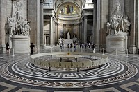 Interior with the Foucault Pendulum as empirical evidence of the Earth's rotation, Panthéon, a mausoleum for French National heroes, Montagne Sainte-G...
