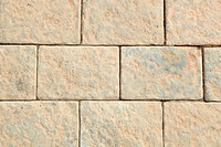 Brown pavement bricks background