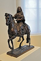 Max Emanuel on horseback after Martin Desjardins, bronze, late 17th Century, Bavarian National Museum, Munich, Bavaria, Germany, Europe