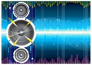 Audio speaker wave background, Vector illustration with layers.