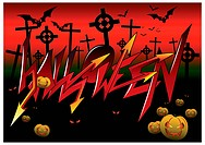Halloween graffiti for backgrounds.