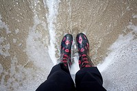 Rain boots in the water