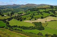 View from Castell Dinas Bran above Llangollen in Denbighshire Wales UK