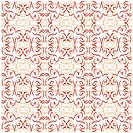Seamless brown ornament vector pattern