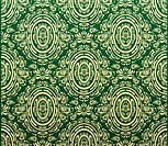 Vector green and gold decorative royal seamless floral ornament