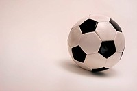 Soccer ball on white background.
