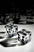 Set of dice conceptual still life