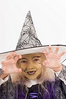 Girl in fancy dress costume for halloween