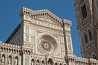Close up of rosette of Duomo of Florence