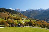 Germany, Bavaria, Ramsau, View of Watzmann mountains