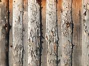 Pattern of old weathered timbered wall