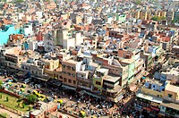 old delhi stadtansicht von oben
