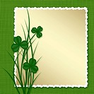 Design for St. Patrick´s Day. Frame with leaf clovers.