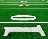 10, 20, & 30 Yard Line on American Football Field