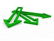 3d arrow green up success growth business