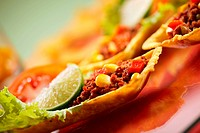 Delicious texmex tortillas with minced meat