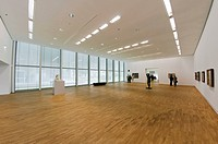 Exhibition space in the new building of the Folkwang Museum in Essen, North Rhine-Westphalia, Germany, Europe