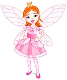 Illustration of a cute little fairy. Wings in different layer, can be removed easily when needed.