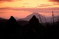 Die Landschaft in der Bergregion beim Dorf Kasi an der Nationalstrasse 13 zwischen Vang Vieng und Luang Prabang in Zentrallaos von Laos in Suedostasie...