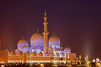 United Arab Emirates  Abu Dhabi  Sheikh Zayed Mosque.