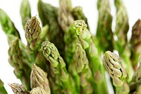 Close up shots of bunch of green asparagus