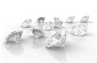large group of diamonds isolated on white