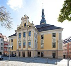 Town Hall on Hauptmarkt square, Bautzen, Budysin, Upper Lusatia, Lusatia, Saxony, Germany, Europe, PublicGround