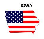 USA State Map Iowa