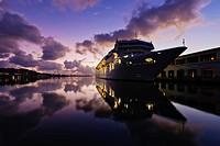 Cruise ship in Cuban terminal