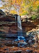 Cucumber Falls in Ohiopyle state park in Pennsylvania