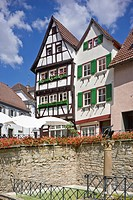 Old town, Bad Wimpfen, Neckartal, Baden-Wuerttemberg, Germany, Europe