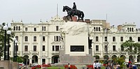 Monument of Jose de San Martin, Plaza San Martin, Historic Centre of Lima, Lima, Peru