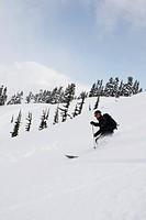 skiing backcountry powder in Whistler