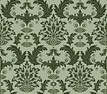 Seamless from leaves and flowers on green background can be repeated and scaled in any size
