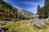 Schwarzbrunn Alm, hunting lodge, Voldertal Valley, Tyrol, Austria, Europe